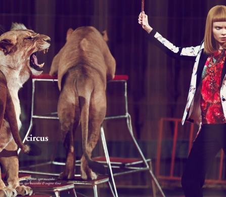 Photography by Igor Oussenko  Jacket / Prabal Gurung, Top / Barbara Bui, Trousers / Barbara Bui, Necklace / Lanvin, Ring / Lanvin