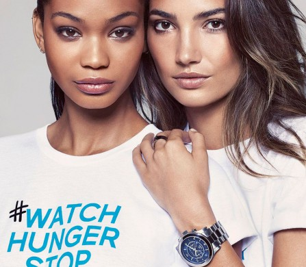 Chanel-Iman-and-Lily-Aldridge-in-the-Watch-Hunger-Stop-t-shirts