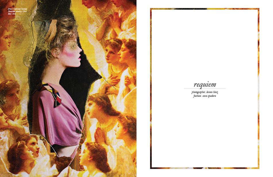 Dress / Michael Sontag Shoulder jewelry / Nca Hat / Nca