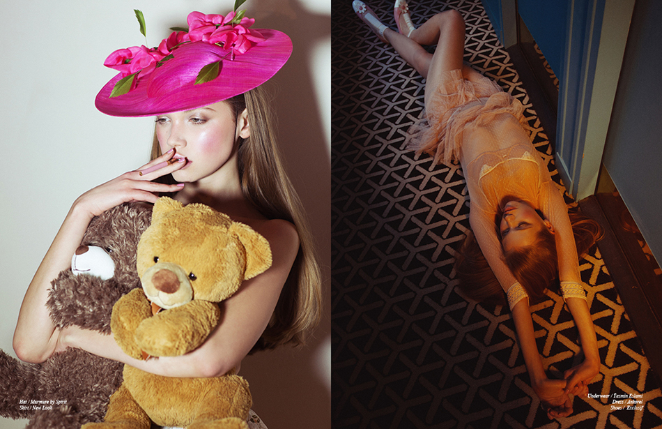 Left Hat / Murmure by Spirit Skirt / New Look Right Underwear / Ÿasmin Eslami Dress / Ankorel Shoes / Exclusif