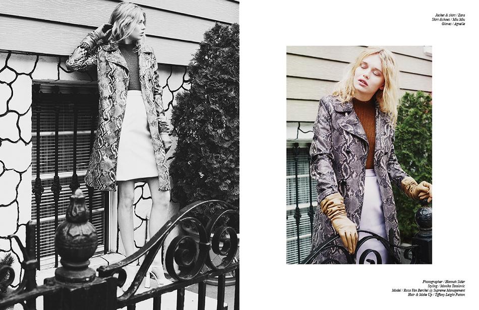 Jacket & shirt / Zara  Skirt &shoes / Miu Miu Gloves / Agnelle