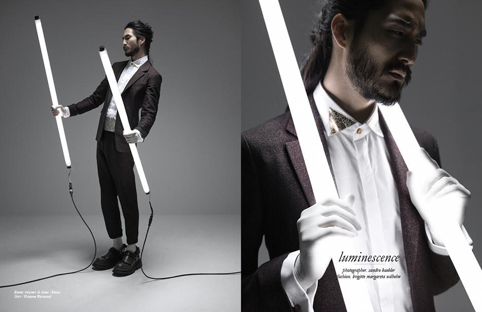 Blazer, trousers & shoes / Kenzo  Shirt / Vivienne Westwood