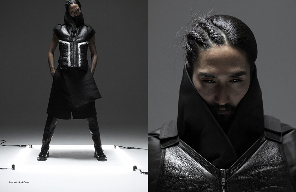 Left Total look / Rick Owens Right