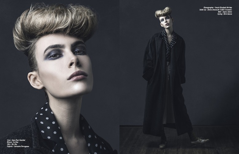 Coat / Jean Paul Gaultier Blouse / La Rue Skirt / Ric Rac Oxfords / Salvatore Ferragamo