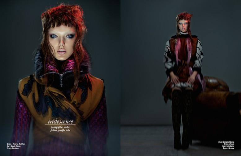 Dress / Victoria Beckham Fur / Louis Vuitton Scarf / Burberry Opposite Coat / Bottega Veneta Dress / Prada  Scarf / Burberry  Boots / Versace