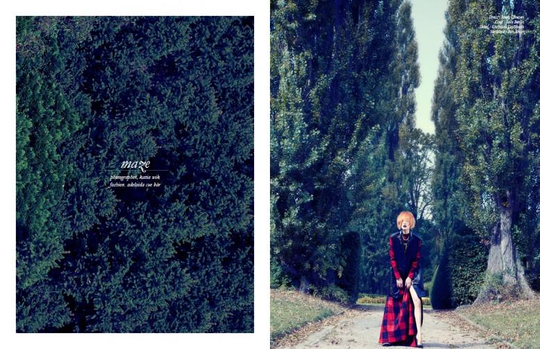 Dress / Mads Dinesen  Coat / Lala Berlin Shoes / Christian Louboutin  Necklace / Ben Amun