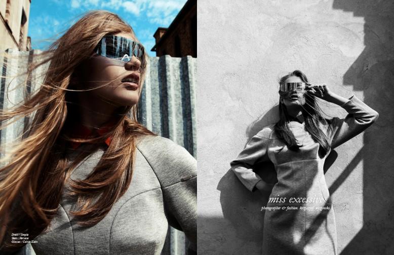Dress / Simple Shirt / Versace  Glasses / Calvin Klein