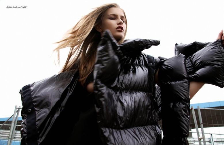 Jacket & hoodie-scarf / MMC