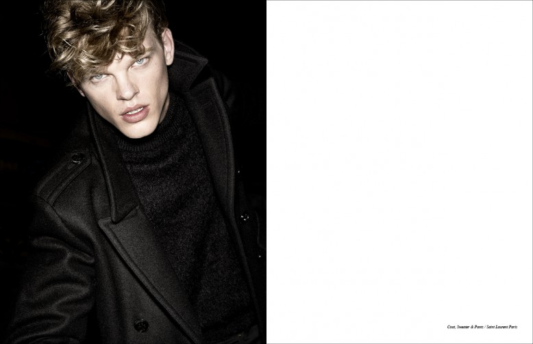 Coat, Sweater & Trousers / Saint Laurent Paris