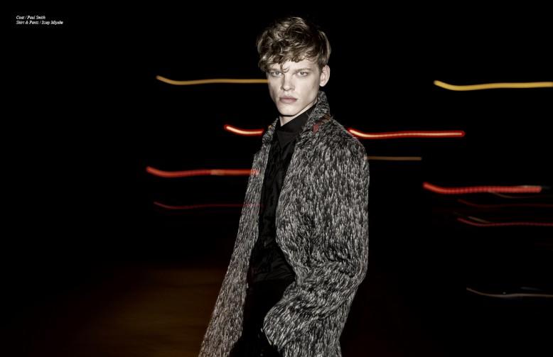 Coat / Paul Smith Shirt & Trousers / Issey Miyake