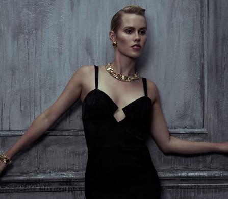 Dress / AGAIN  Jewellery / Dior  Shoes / Nicole Brundage