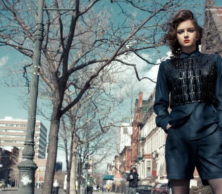 Shirt / Saint Laurent Short / Agnes B. Croc vest / KTZ Hosiery / La Perla