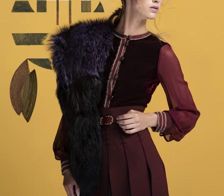 Dress / Tommy Hilfiger collection Stole / Django Steenbaker couture Belt / CHANEL