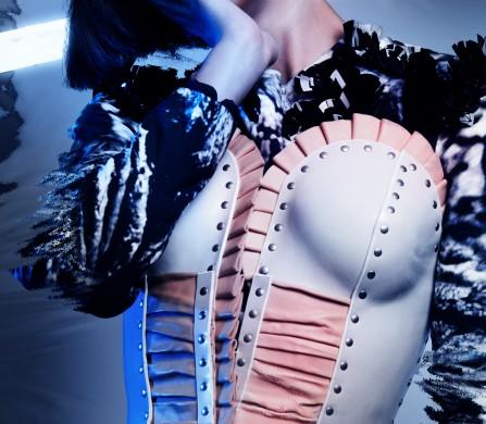 Dress / Steinrohner Leather Corset / Marina Hoermanseder