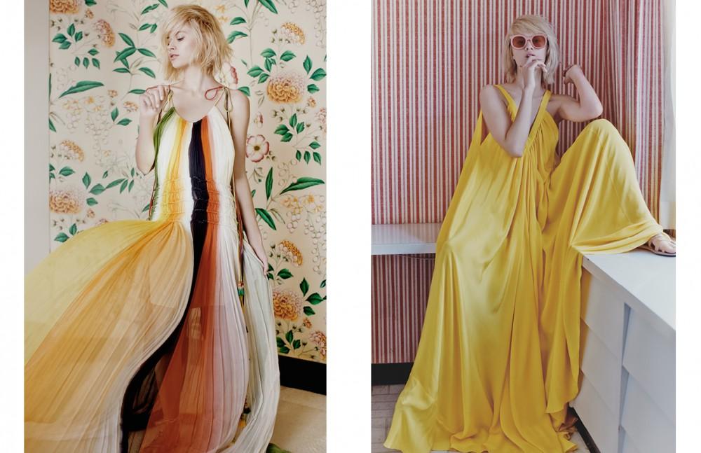 Chiffon Maxi Dress / Chloé Sandals / Ancient Greek Opposite Dress / Rebecca Minkoff Sunglasses / Karen Walker Sandals / Ancient Greek