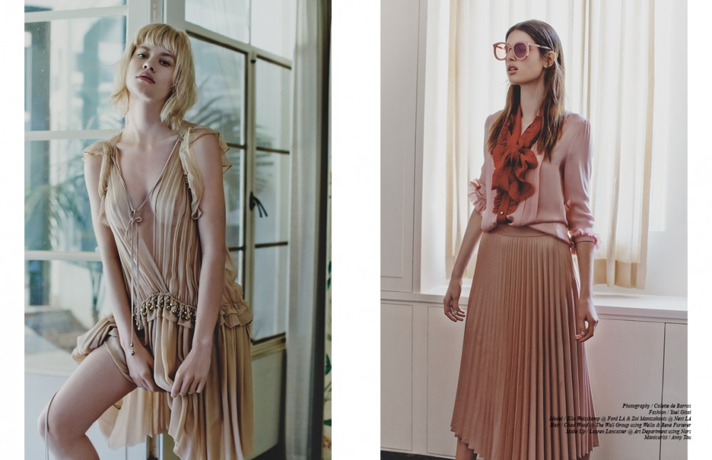 Chiffon Dress / Chloé Opposite Bow Tie Blouse / Gucci Rose Pleated Skirt / Topshop Rose Sunglasses / Karen Walker