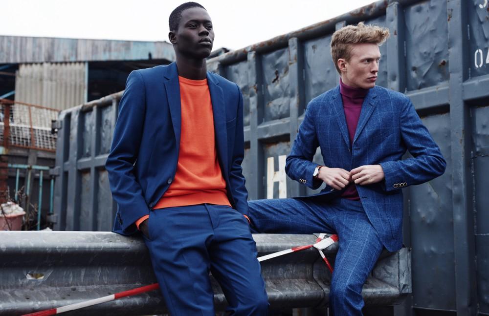 Alpha Dia @ Modelwerk wears Suit / BOSS Jumper / BOSS Orange Opposite Phillip Wörtmann @ Modelwerk wears Suit / Herr von Eden Turtleneck / Benetton