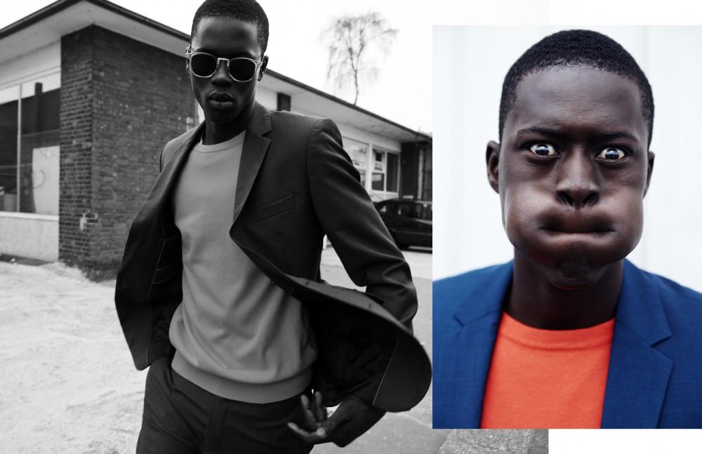 Alpha Dia @ Modelwerk wears Suit / BOSS Jumper / BOSS Orange Sunglasses / Persol