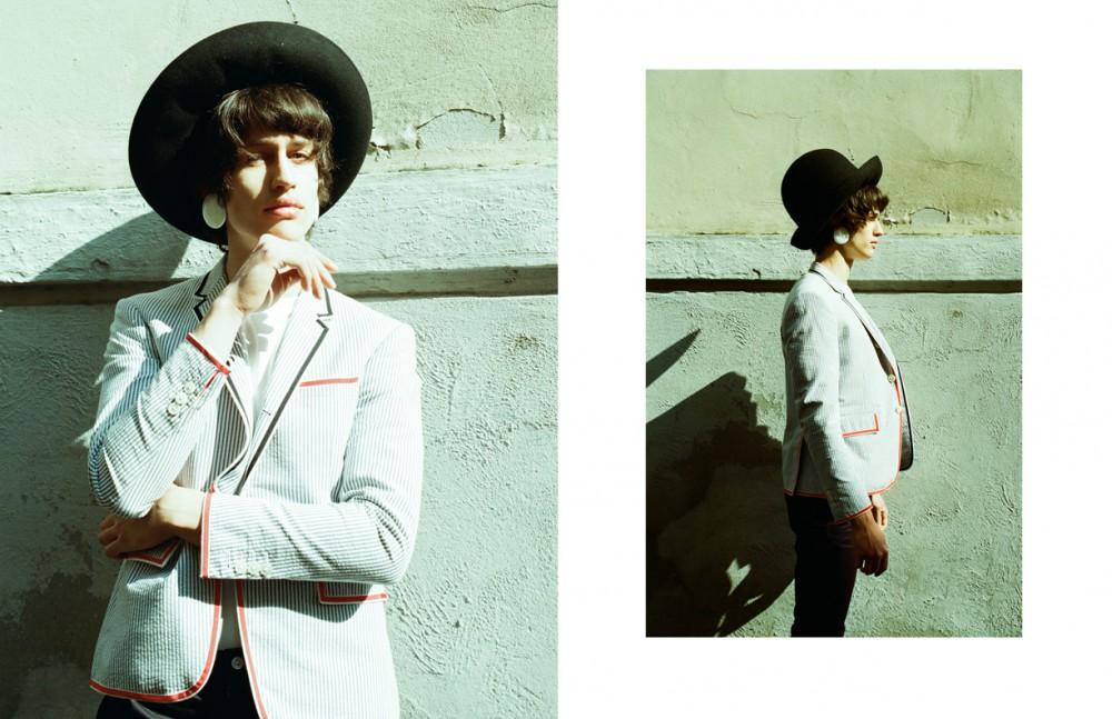 Coat / Thom Browne T-Shirt / Original Vintage Trousers / Prada Hat / Giorgio Armani