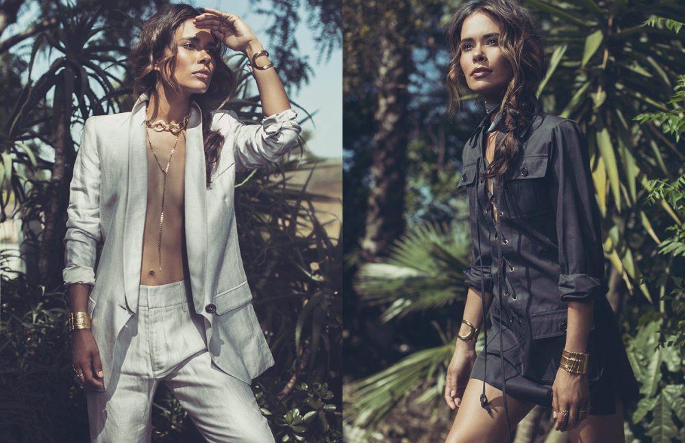 Suit / Smythe Choker / Karine Sultan Necklace / Mara Carrizo Scales Cuffs / Karine Sultan Opposite Dress / Vintage YSL Cuffs / Karine Sultan