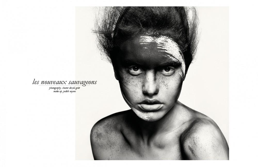Lydia @ MichaModels wears Make Up / CHANEL Preparation using Fabricate 0.3 / Redken