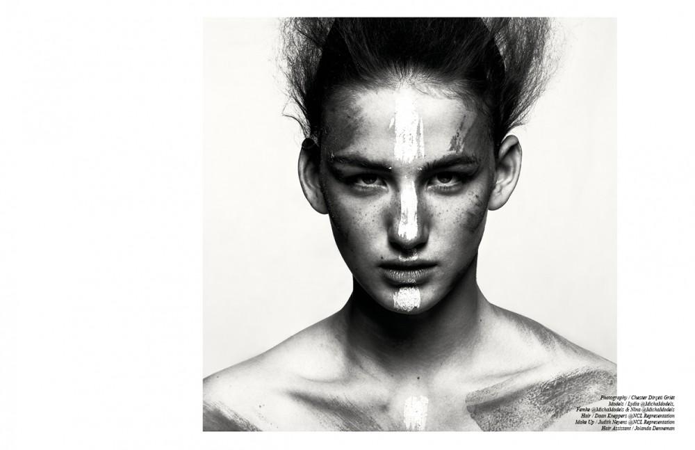 Nina @MichaModels wears Make Up / CHANEL Finishing using dry-shampoo / Schwarzkopf