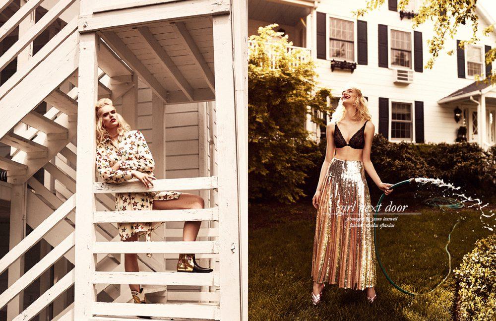 Dress / Saint Laurent Shoes / Miu Miu Opposite Top / La Perla Skirt / Emilio Pucci Shoes / Gucci