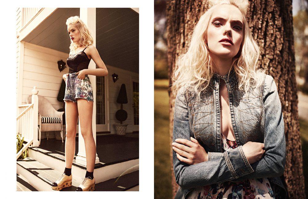 Top / La Perla Shorts / Levis Shoes / Chanel Opposite Coat / Alexander McQueen Dress / Mary Katrantzou