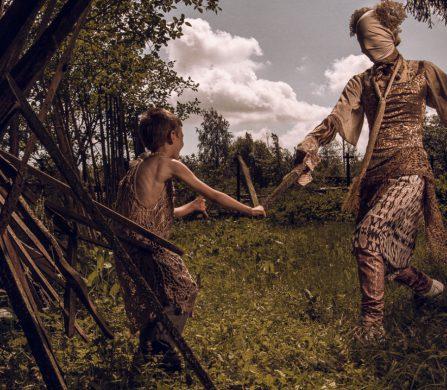 Boy wears Dress / Julius Caesar Trousers / IKKS Boddah wears Patchwork / Julia Caesar