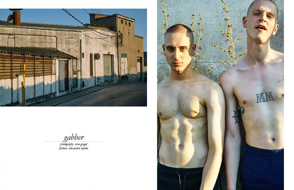 Edrien (Left) @ Model Talking wears Trousers / PUMA Sebastian (Right) @ AMCK Models London wears Trousers / Reebok