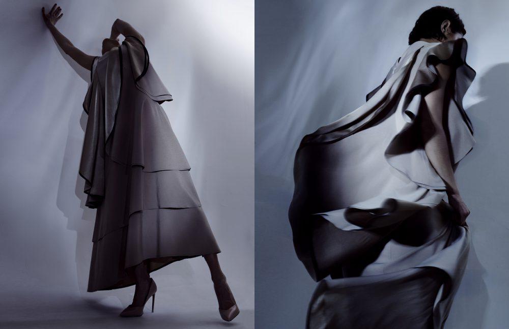 Dress / Robert Wun Shoes / Yves Saint Laurent Opposite Dress / Robert Wun