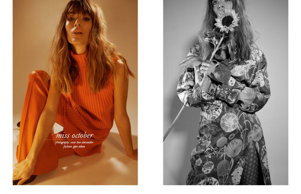 Coat Manoush, Top Etam Trousers & Top / Akris Shoes / Stephane Kélian Opposite Look / Emanuel Ungaro Tights / Wolford