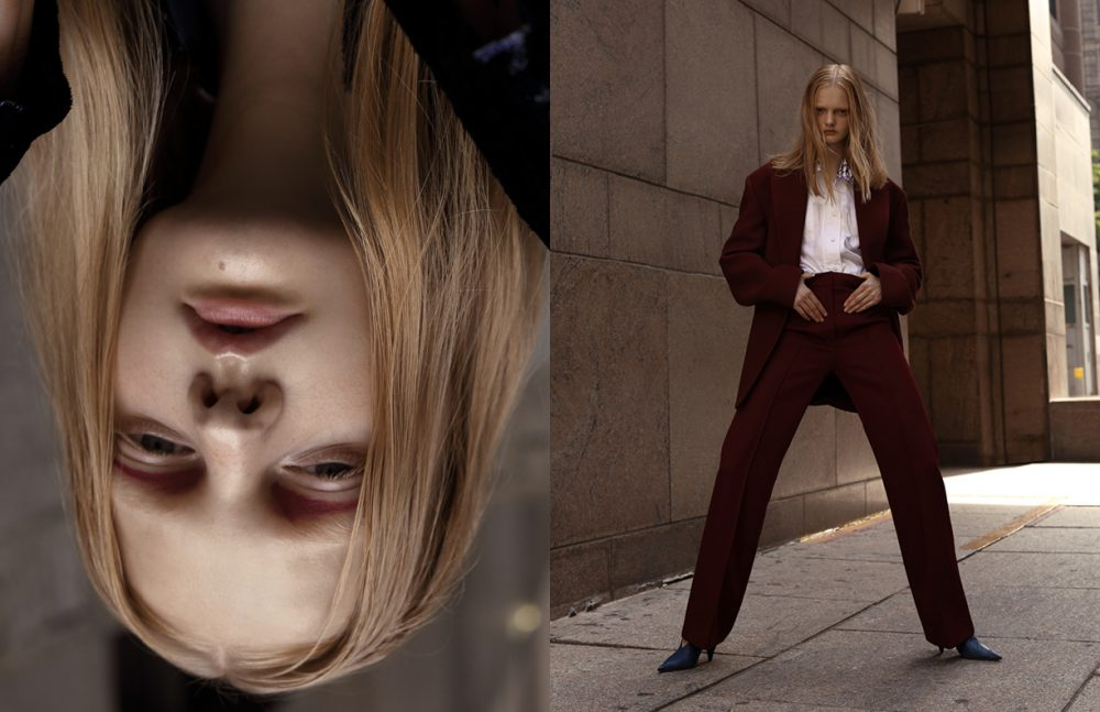 Shirt / KENZO  Blazer & trousers / JOSEPH  Shoes / Céline