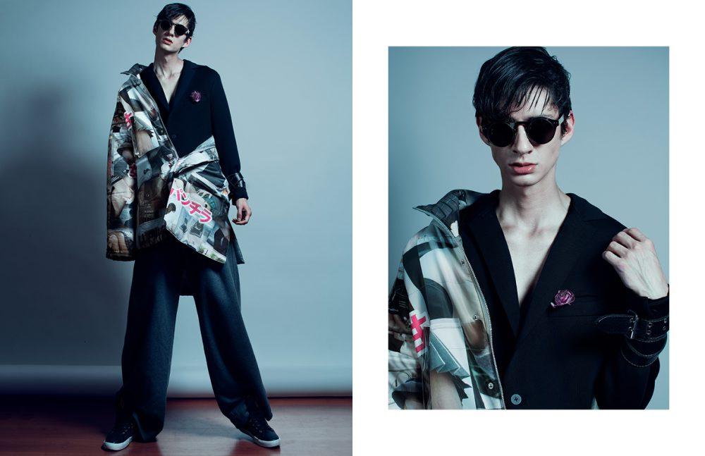 Coat / Angulo Jacket / Apparel K Trousers / PUMA by Rihanna  Trainers / Rabia Glasses / Moscot Belt / Diesel