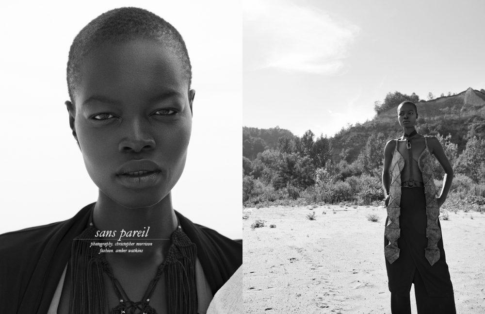 Jacket / Code Vitesse  Dress & neck piece / Tala Kamea Opposite Vest / Tala Kamea  Trousers / SIG  Harness / Berman & Co.
