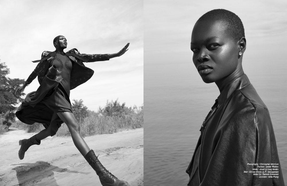 Jacket / VANDAL Dress / Christopher Paunil Opposite Cape / Candace Daniela  Earrings / Caroline Néron