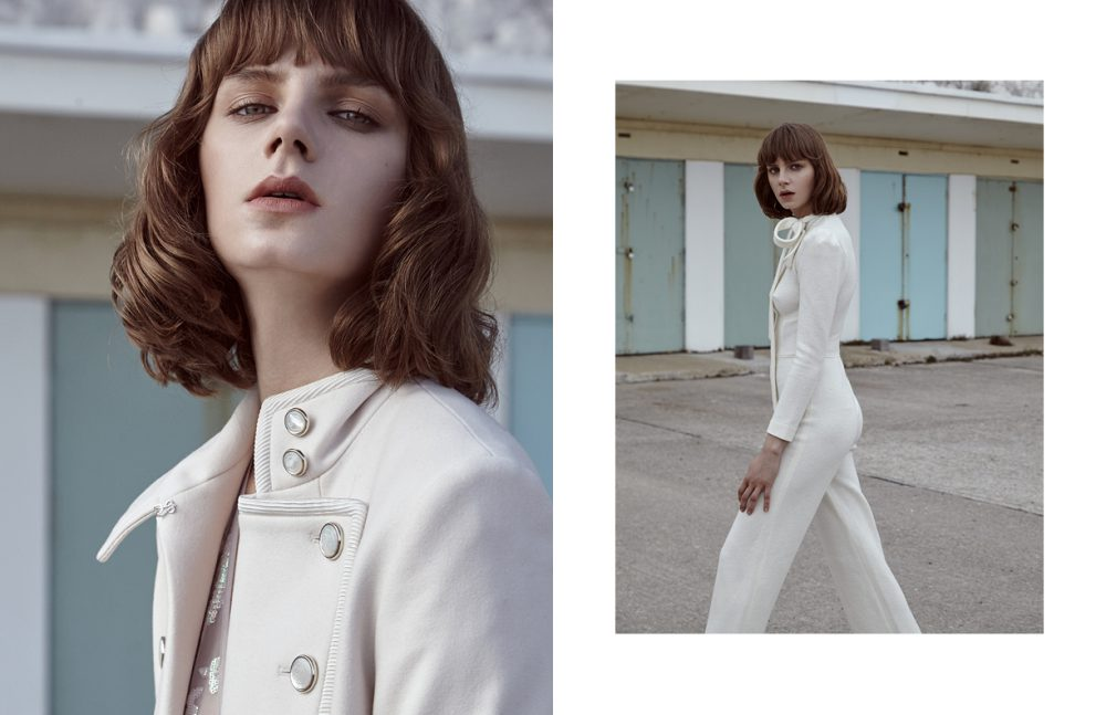 Dress & Coat / Temperley London Opposite  Cashmere Catsuit / Ermanno Scervino