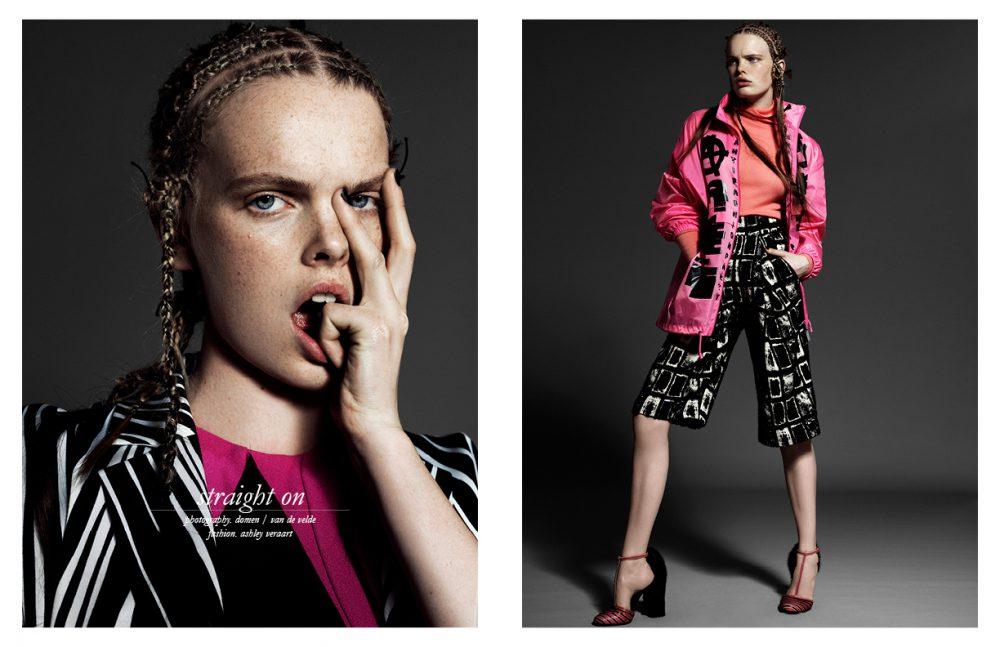 Dress & Coat / HUGO BOSS Opposite Jumper / Marc Cain Jacket / Bas Kosters Studio Culottes / Winonah Shoes / Salvatore Ferragamo