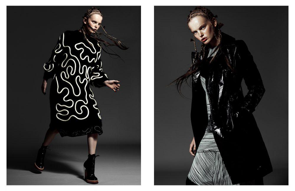 Dress & Skirt / Sportmax Shoes / Carven Opposite Dress / L.K. Bennett Coat / HUGO BOSS
