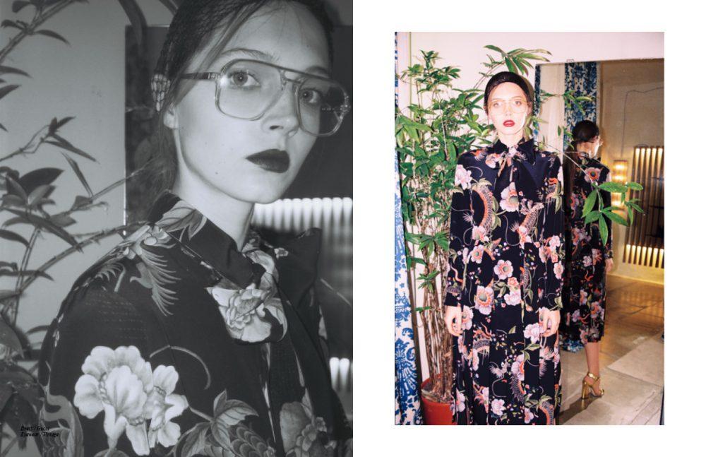 Dress / Gucci Eyewear / Vintage Opposite Dress & Shoes / Gucci Eyewear / Vintage Pescatori Socks / Vintage