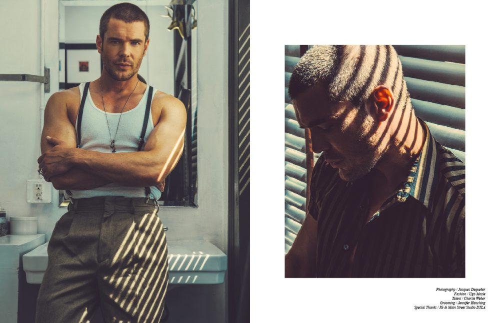 Tank / Calvin Klein Suspenders / Dior Trousers / Balenciaga Opposite Shirt / SECOND / LAYER