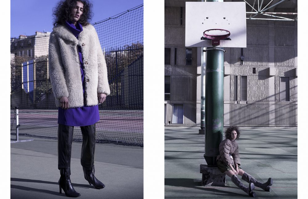 Dress / Lutz-Huelle Coat / A.P.C Trousers / Y/PROJECT Boots / Karine Arabian Paris Opposite Jacket / Christian Wijnants Belt & Boots / A.F. Vandevorst Skirt / Dice Kayek