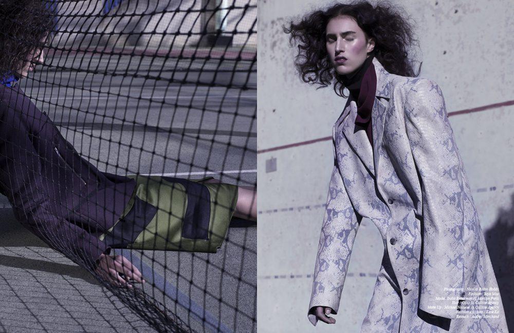 Jacket / COS Turtleneck / AALTO Skirt / Christian Wijnants Opposite Top / MOON YOUNG HEE Knitwear / COS Coat / Y/PROJECT