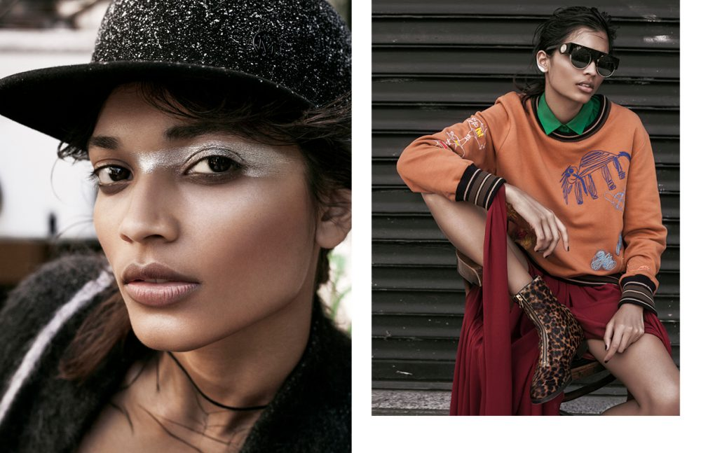 Top & Coat / Vionnet Hat / Maison Michel Opposite Dress / ELIE SAAB Shirt / Barbara Bui Jumper / Vivienne Westwood Boots / Heimstone Sunglasses / KENZO