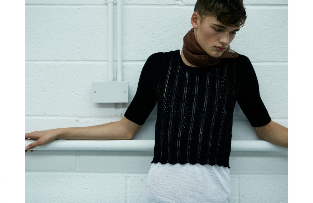 Top / MANDKHAI Vest (worn underneath) / AMI Scarf / Stylist's Own