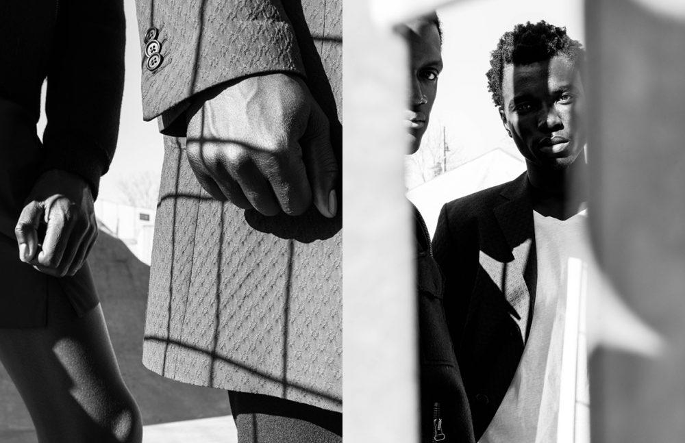 Jacket / Stephen F (SS17) Shorts / Raf Simons (Archive) Opposite Jacket / Stephen F (SS17) Shirt / Balenciaga (SS17)