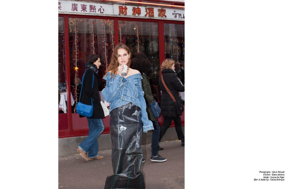 Jacket / Balenciaga Plastic Skirt / Lutz Huelle  Skirt / AFTERHOMEWORK(PARIS)