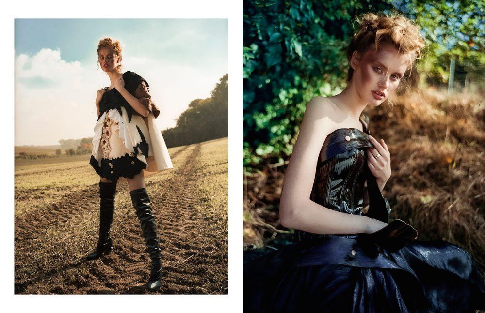 Dress / Beau Voir Boots / Kurt Geiger Opposite Corset / Boris Bresil Skirt / Karoline Lang