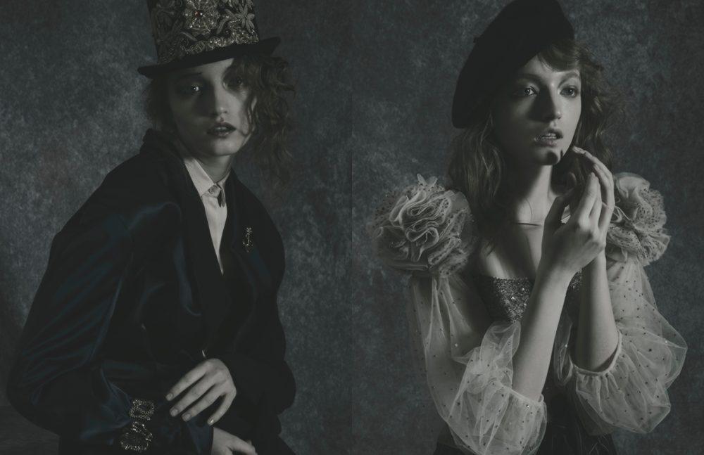 Shirt / La Perla Jumpsuit / Mila Schön  Bracelet / Roberto Cavalli  Hat / Pasquale Bonfilio Opposite Dress / Blumarine  Trousers / Ralph Lauren  Hat / Borsalino