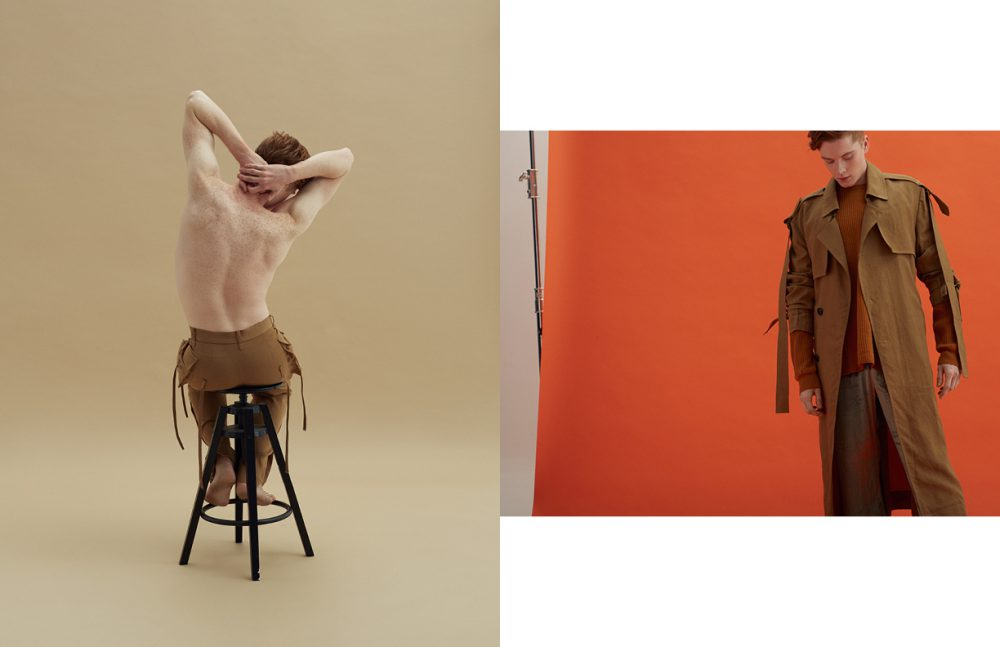 Trousers / PRONOUNCE Opposite Trench / PRONOUNCE Jumper / Vince Trousers / Artem Shumov
